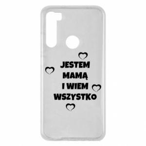 Etui na Xiaomi Redmi Note 8 Jestem mamą i wiem wszystko