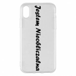 Phone case for iPhone X/Xs I'm Unpredictable - PrintSalon
