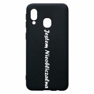 Phone case for Samsung A40 I'm Unpredictable - PrintSalon