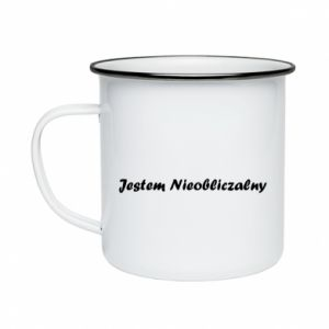 Enameled mug I'm Unpredictable, for men - PrintSalon