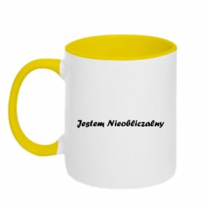 Two-toned mug I'm Unpredictable, for men - PrintSalon