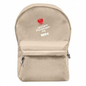 Backpack with front pocket I'm Polish for 100% - PrintSalon