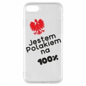 Phone case for iPhone 7 I'm Polish for 100% - PrintSalon