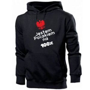 Men's hoodie I'm Polish for 100%