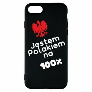 Phone case for iPhone 8 I'm Polish for 100% - PrintSalon