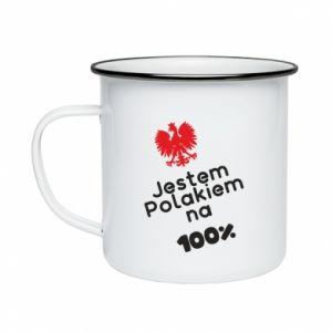 Enameled mug I'm Polish for 100% - PrintSalon