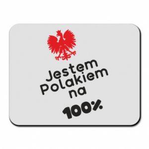 Mouse pad I'm Polish for 100% - PrintSalon