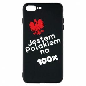 Phone case for iPhone 8 Plus I'm Polish for 100% - PrintSalon