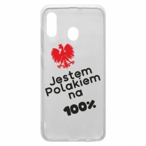 Phone case for Samsung A20 I'm Polish for 100% - PrintSalon