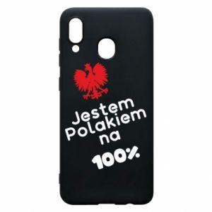 Phone case for Samsung A30 I'm Polish for 100% - PrintSalon