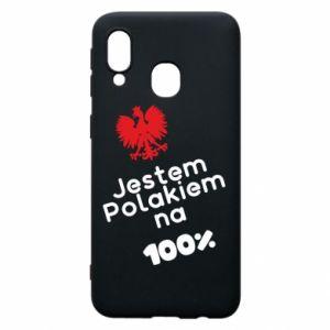Phone case for Samsung A40 I'm Polish for 100% - PrintSalon