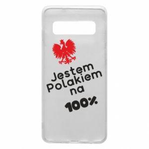 Phone case for Samsung S10 I'm Polish for 100% - PrintSalon