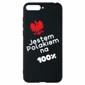 Phone case for Huawei Y6 2018 I'm Polish for 100% - PrintSalon