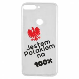 Phone case for Huawei Y7 Prime 2018 I'm Polish for 100% - PrintSalon
