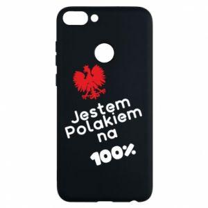 Phone case for Huawei P Smart I'm Polish for 100% - PrintSalon