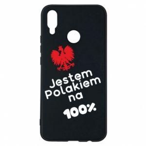 Phone case for Huawei P Smart Plus I'm Polish for 100% - PrintSalon