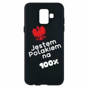 Phone case for Samsung A6 2018 I'm Polish for 100% - PrintSalon