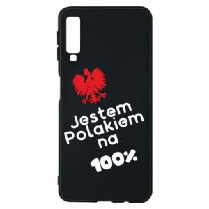 Phone case for Samsung A7 2018 I'm Polish for 100% - PrintSalon