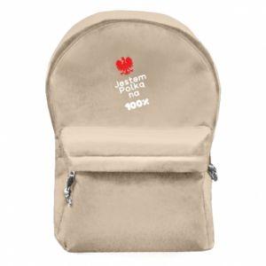 Plecak z przednią kieszenią Jestem polką na 100%