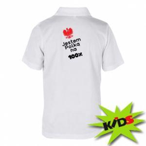 Koszulka polo dziecięca Jestem polką na 100%