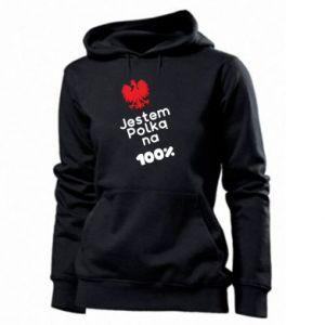 Women's hoodies I am Polish for 100%, for her - PrintSalon