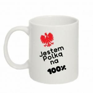 Mug 330ml I am Polish for 100%, for her - PrintSalon