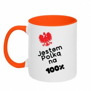 Two-toned mug I am Polish for 100%, for her