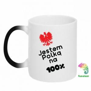 Chameleon mugs I am Polish for 100%, for her - PrintSalon