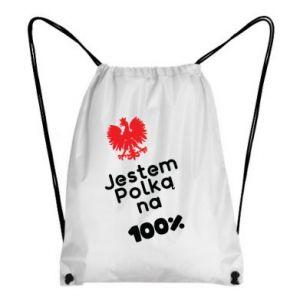 Backpack-bag I am Polish for 100%, for her - PrintSalon