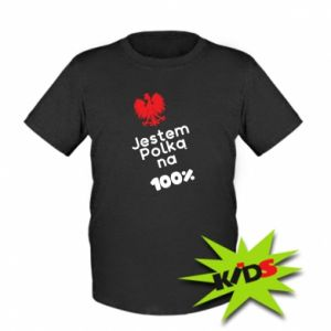 Kids T-shirt I am Polish for 100%, for her