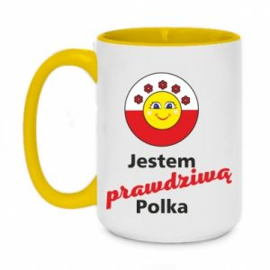 Two-toned mug 450ml I am a real Polish woman