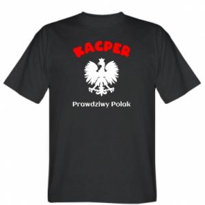 T-shirt Kacper is a real Pole