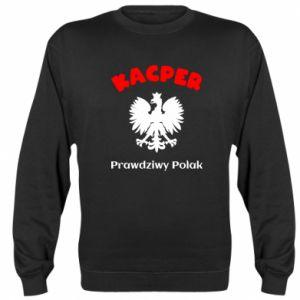 Sweatshirt Kacper is a real Pole - PrintSalon