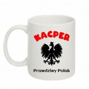 Mug 330ml Kacper is a real Pole - PrintSalon