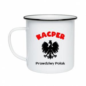 Enameled mug Kacper is a real Pole - PrintSalon