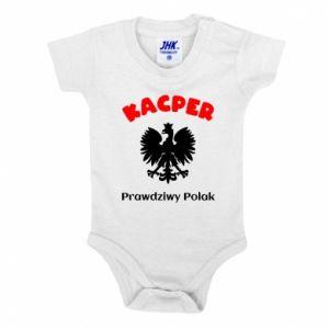 Baby bodysuit Kacper is a real Pole - PrintSalon