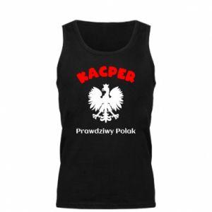 Men's t-shirt Kacper is a real Pole - PrintSalon
