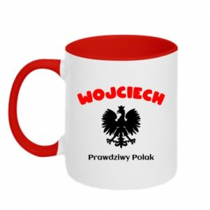 Two-toned mug Wojciech is a real Pole