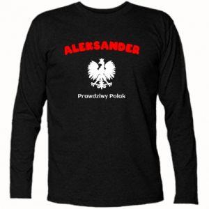 Koszulka z długim rękawem Aleksander jest prawdziwym Polakiem