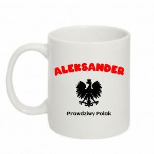 Kubek 330ml Aleksander jest prawdziwym Polakiem