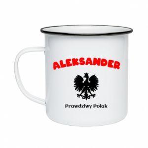 Kubek emaliowane Aleksander jest prawdziwym Polakiem
