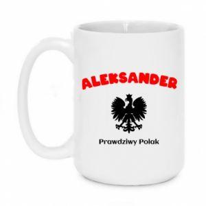 Kubek 450ml Aleksander jest prawdziwym Polakiem