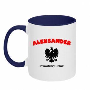 Kubek dwukolorowy Aleksander jest prawdziwym Polakiem