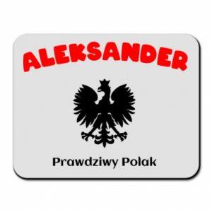 Podkładka pod mysz Aleksander jest prawdziwym Polakiem
