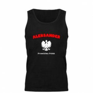 Męska koszulka Aleksander jest prawdziwym Polakiem