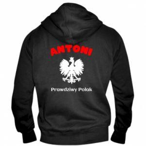 Męska bluza z kapturem na zamek Antoni jest prawdziwym Polakiem