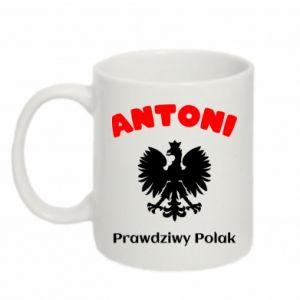 Kubek 330ml Antoni jest prawdziwym Polakiem