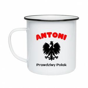 Kubek emaliowane Antoni jest prawdziwym Polakiem