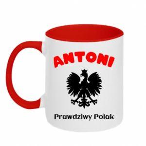 Kubek dwukolorowy Antoni jest prawdziwym Polakiem