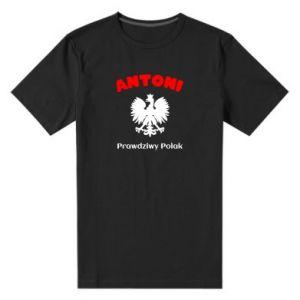 Męska premium koszulka Antoni jest prawdziwym Polakiem